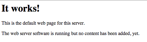 Apache2 default page on Ubuntu 13.10