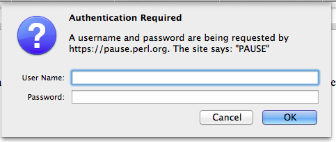 PAUSE Basic Authentication pop-up